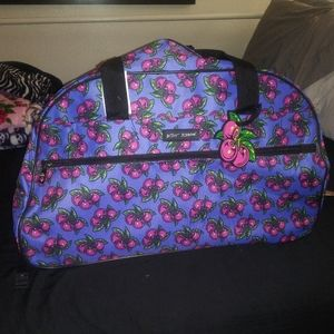 Betsey Johnson travel bag with wheels